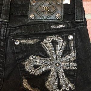 Miss Me signature skinny black jeans 26 (4P17)